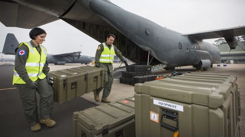 The Australian Defence Force is transporting medical equipment to New Zealand and carrying victims to Australian hospitals.
