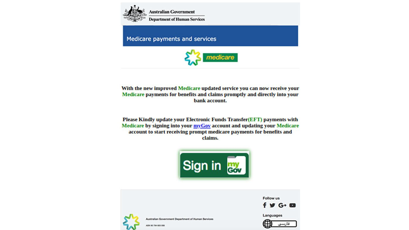 The scam starts with a phishing email that looks like it is from Medicare