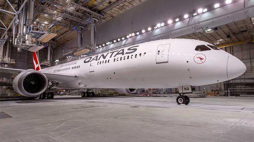 Qantas dreamliner plane