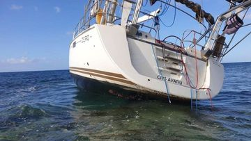 The yacht named Zero sits abandoned and stranded on a reef. An international investigation has been launched into the vessel's alleged cargo of illicit drugs worth $1 billion.