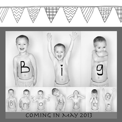 Black and white and lots of baby wipes we're guessing for this photo montage.