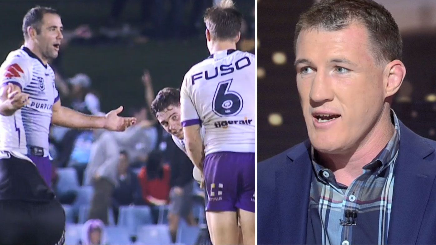 'Come out and put your name to it': Paul Gallen calls out Storm camp over grievances with Smith-Munster comments