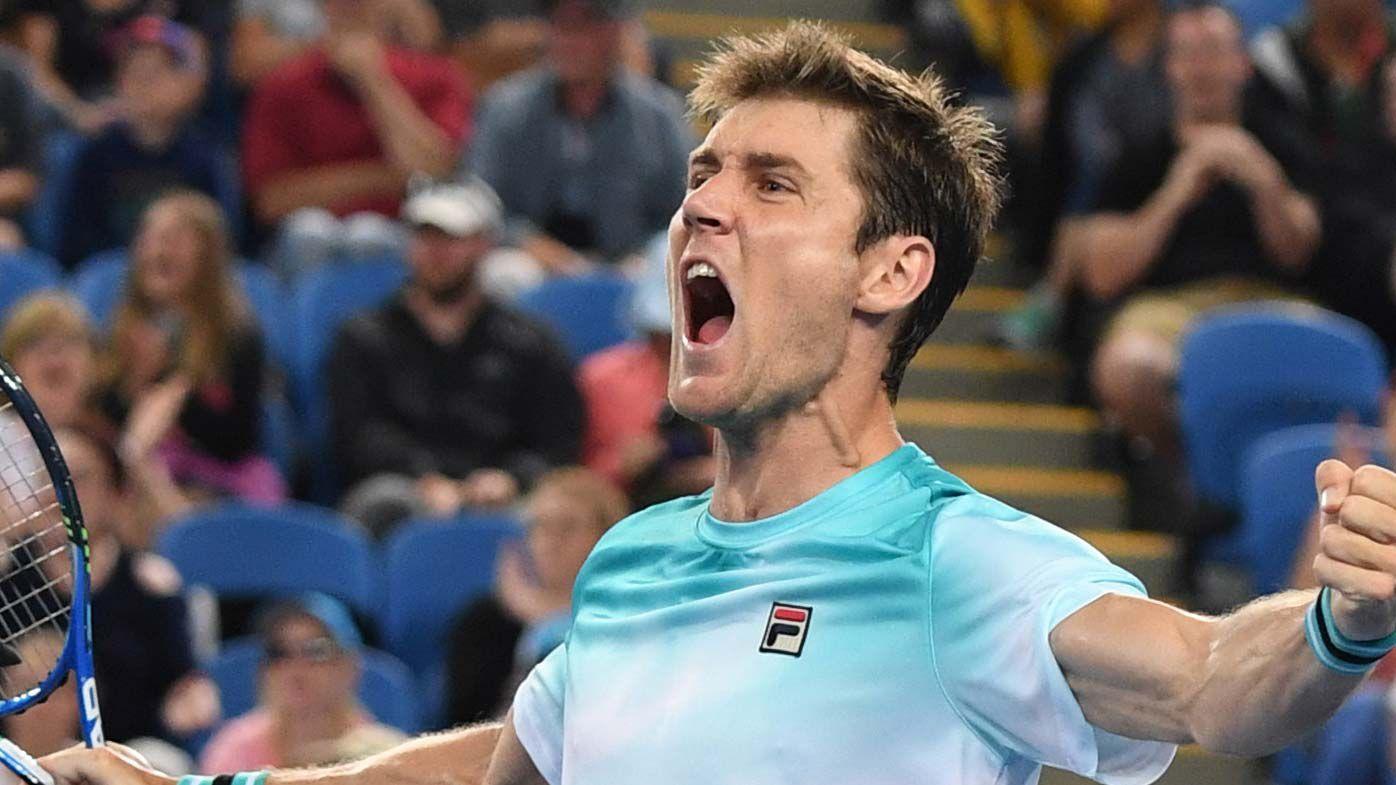 Aussie battler Matthew Ebden upsets giant American