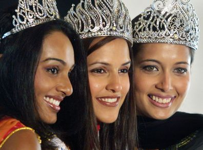 Miss India Universe, Miss India World and Miss India Earth, in New Delhi, India, 2002