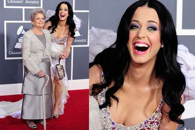 Katy Perry brought her grandma to the Grammys - so cute!