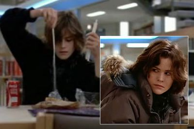 """<b>Back in the 80s... </b>Ally was best known as the weird girl in <i>The Breakfast Club</i> who got babefied by Molly Ringwald's character in the toilets. She also popped up in <i>St. Elmo's Fire</i> and <i>Short Circuit</i>.<br/><br/>MusicFIX: <a href=""""http://music.ninemsn.com.au/slideshowajax/207137/80s-fashion-amazing-tragic-pop-style.slideshow"""">Amazing/tragic 80s fashion!</a>"""