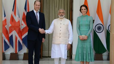 The royals meet Indian Prime Minister Narendra Modi, on day three of their tour.