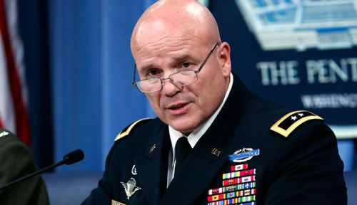Army Major General Roger L. Cloutier, chief of staff, US Africa Command, updates the media about the deadly Niger ambush. (AP).