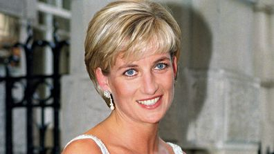 Princess Diana attends a gala in London