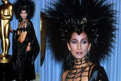 <b>Cher 1986</b><br/><br/>It's Cher. What, you expect her to put on a top just because it's the Oscars?