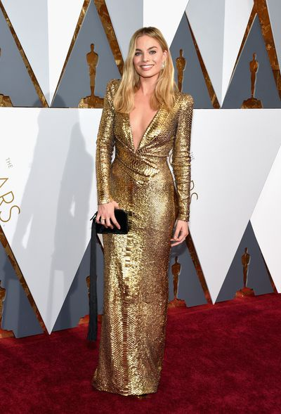 Margot Robbie in Tom Ford at the 88th Annual Academy Awards in Hollywood on February 28, 2016