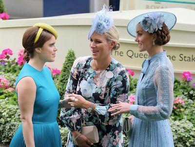 Princess Eugenie, Zara Tindall and Kate Middleton at Royal Ascot 2019