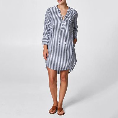"<a href=""https://www.target.com.au/p/tie-front-kaftan-dress/60737915"" target=""_blank"">Tie-Front Kaftan Dress</a>, $25"