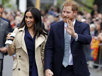 Prince Harry and Meghan Markle in Melbourne during the 2018 Royal Tour of Australia.