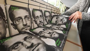 Copies of Edward Snowden's new book
