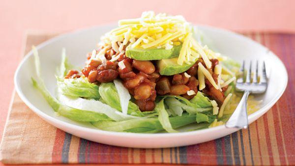 Bean salsa salad