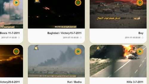 A trove of hundreds of videos on Kataib Hezbollah website shows combat footage, IED explosions and puported rocket attacks on US and Coalition Forces.