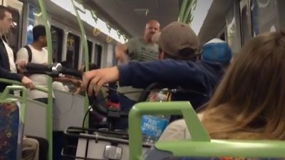 Brawl erupts over bikes on train