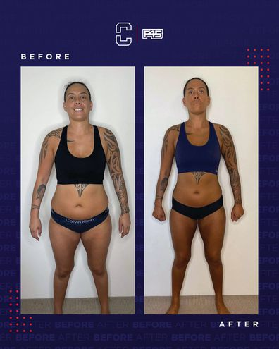 Te Crystal F45 challenge before and after