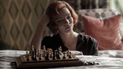 Anya Taylor-Joy as Beth Harmon as seen on Netflix's The Queen's Gambit.