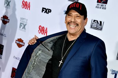 Danny Trejo keeps his dagger close to his chest.