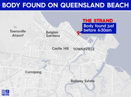The body was found just before 6:30am on Monday.