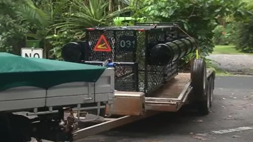 The EHP will use three crocodile traps in the search. (9NEWS)