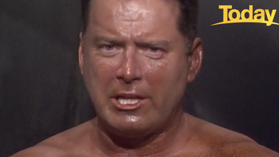 Uh oh. Karl Stefanovic reacts to seeing his bronze shade.