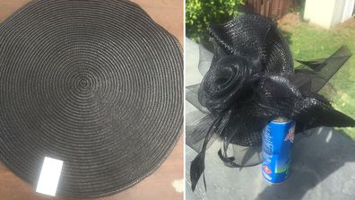 Louise Palmer turned a $1 Kmart place mat into a fascinator