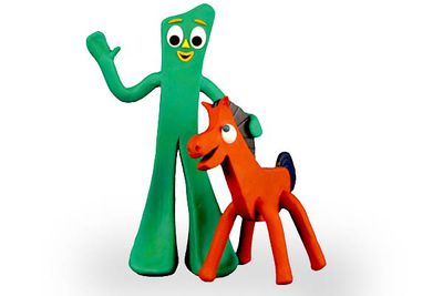 You can't claim to be an '80s kid unless you watched <i>Gumby</i> after school. We have no idea what he's meant to be (or why his head is that shape. And green), but his adventures with pals Pokey, Prickle and Goo were strangely captivating.