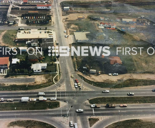 An aerial shot of the area where Sharron Phillips was murdered. (Image: Supplied)