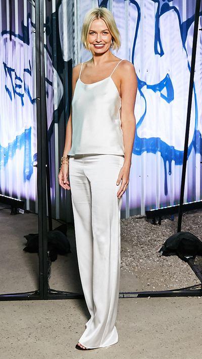 Lara Worthington in Michael Lo Sordo and Tiffany & Co. jewellery.