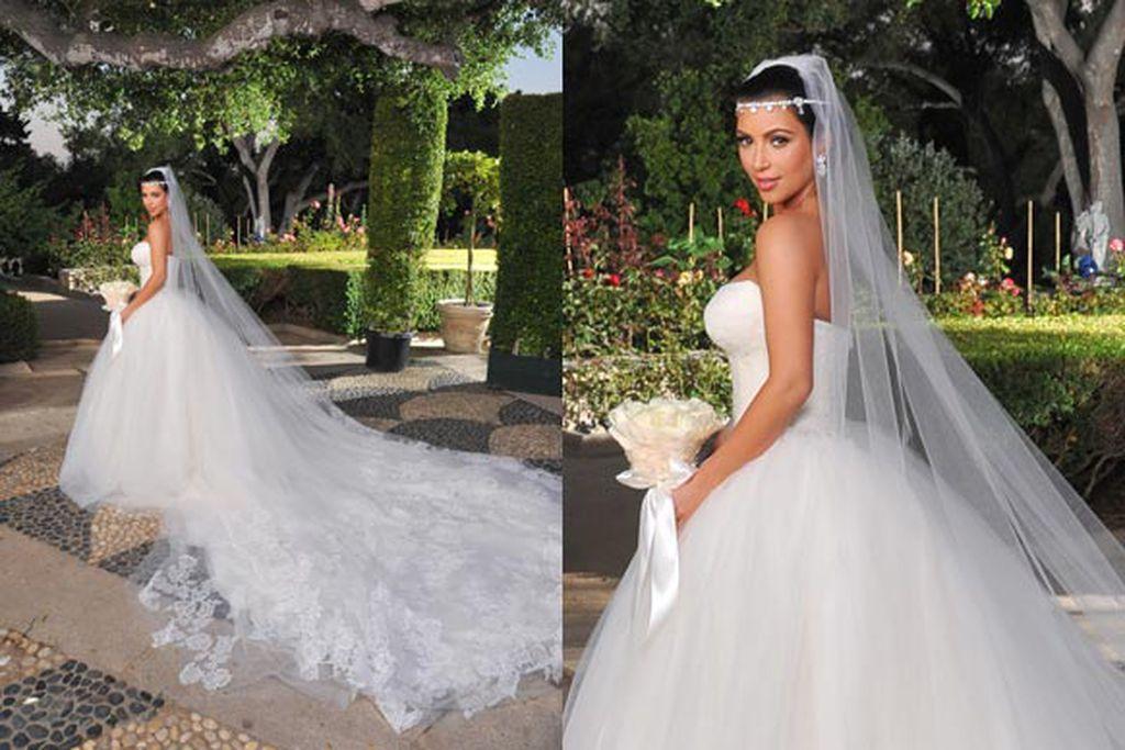 Kim Kardashian Three Wedding Dresses