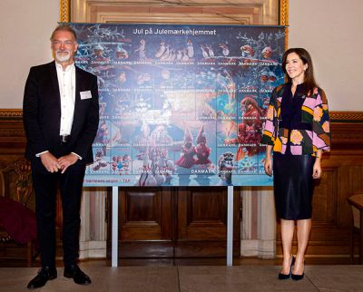 Princess Mary launches 2019 Christmas stamp, October 2019