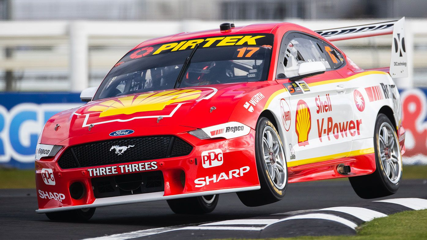 Scott McLaughlin in action in his Ford Mustang.