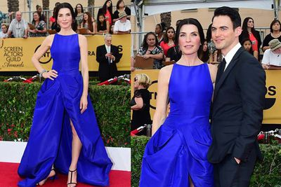 <i>The Good Wife</i> star looked blazing in blue...and that's one hot husband you've got there!
