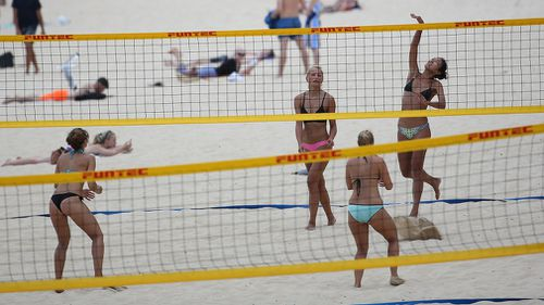 """Gold Coast sand has been deemed """"too fine"""" for Commonwealth Games volleyball matches. (AAP)"""