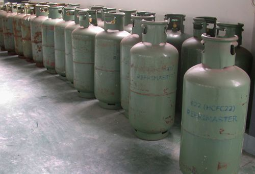 Refrigerant chemicals such as these in China were partly responsible for carbon dioxide emissions that reduced the ozone layer over Earth.