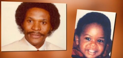 Allan Mann Jr (left) has been arrested while his son, Jermaine Allan Mann (right), has been reunited with his mum.