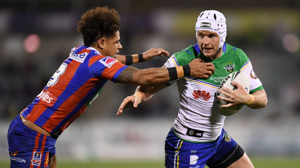 Canberra Raiders slim NRL finals hopes alive after beating Newcastle Knights
