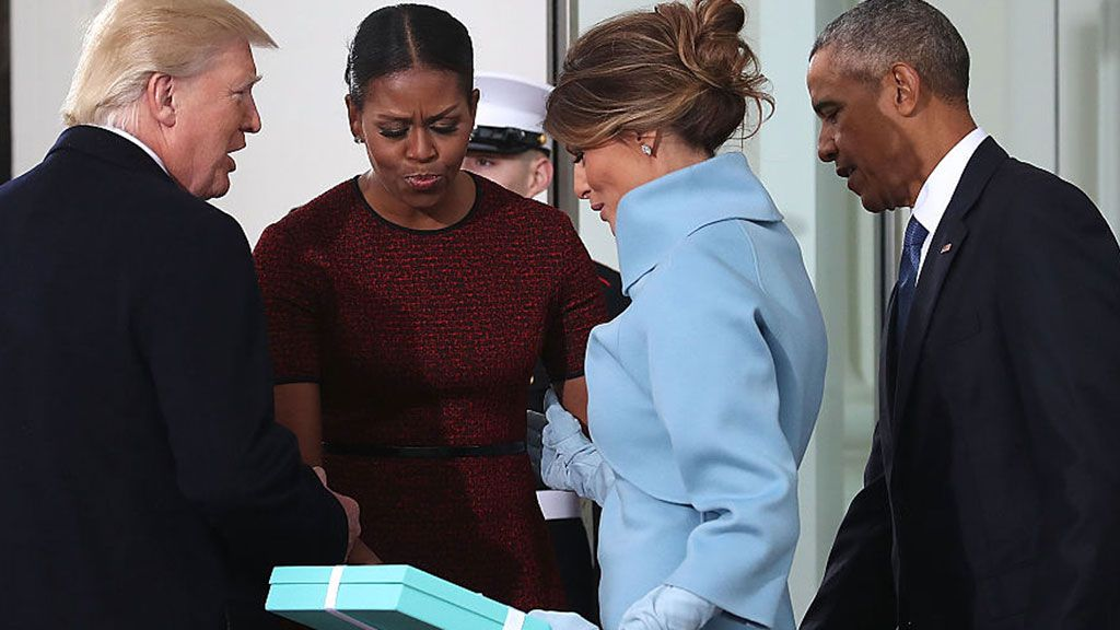 Michelle Obama on the awkward Trump gift exchange