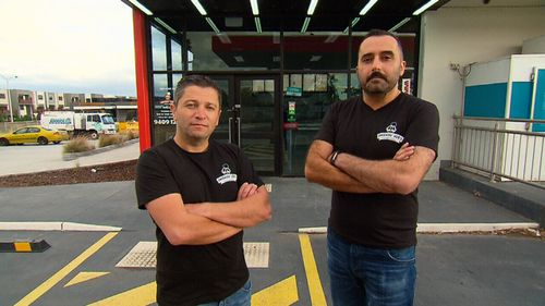 Melbourne pizza makers Charlie Dannoui and Michael Hassan say they have been financially crippled by a $2m tax bill.