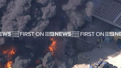 The factory is just 30 metres from homes and other businesses. (9NEWS)