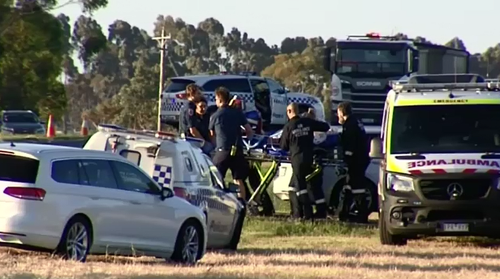 A man is critical after being shot in regional Victoria yesterday.