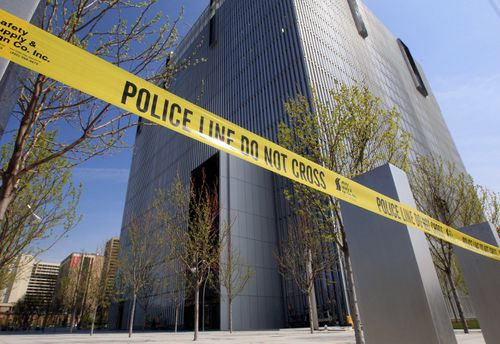 The Federal Courthouse in Salt Lake City was put in lockdown following the shooting. (AAP)