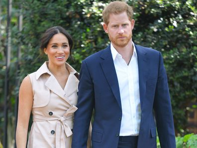 Prince Harry and Meghan Markle on tour in Africa.