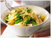 Penne with broccolini and anchovy sauce