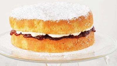 "Recipe:&nbsp;<a href=""http://kitchen.nine.com.au/2016/05/16/14/58/victoria-sandwich"" target=""_top"">Victoria sandwich</a>"