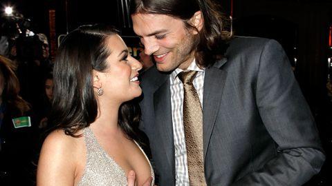 Ashton Kutcher dating Lea Michele nye dating Apps på iPhone