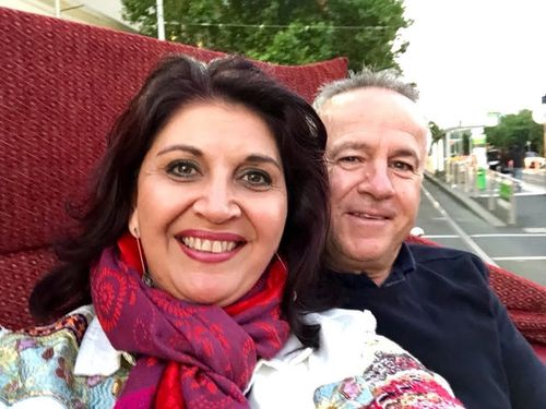 Shar and Russ Moore in a horse and carriage celebrating their 25th wedding anniversary in April this year. Picture: Supplied